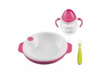 Nuvita Набір для годування 6м+ 3 предмети (рожевий)
