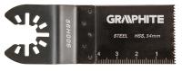 Graphite Полотно плоское к многофункц. инструменту, HSS по металлу, 34 мм