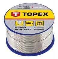Topex 44E524 Припiй олов'яний 60%Sn, проволока 1.5 мм,100 г