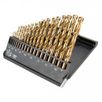 Graphite Свердла по металу HSS-TiN 1.0-10.0 мм, набір 19 шт.