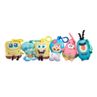 Sponge Bob игрушка-брелок Mini Key Plush SpongeBob в ассорт.