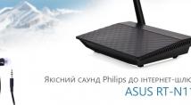 Якісний саунд Philips до бюджетного iнтернет-шлюзу ASUS RT-N11P