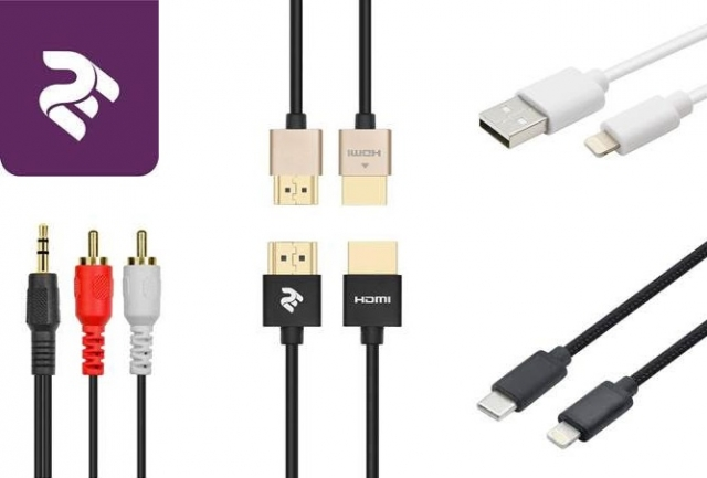 Нові кабелі від 2Е: HDMI, Aux, USB - Lightning, USB - Type-C