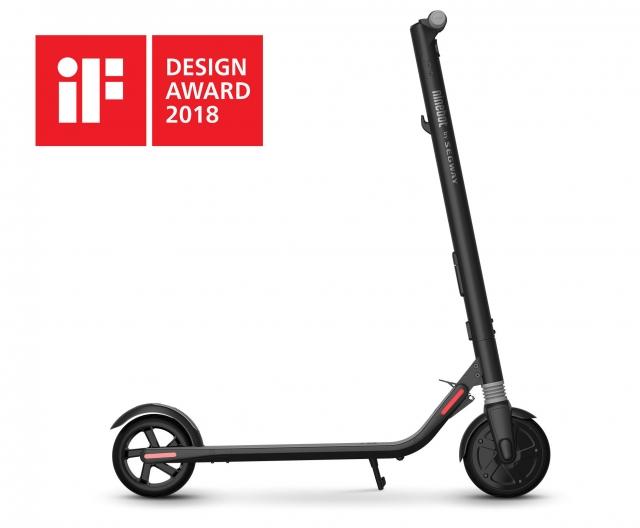 Електросамокат KickScooter від Segway-Ninebot отримав премію iF DESIGN AWARD 2018
