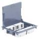 Legrand DLP люк підлоговий 16 модулів Mosaic глиб. 65 мм з кришкою для килими/паркет покриттів сірий