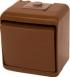 ETI 2-клавишный (коричневый) (IP44) VHE-2-KR