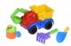 Same Toy Набір для гри з піском із Екскаватором червоним (4 шт.)