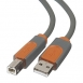 Belkin USB 2.0 (AM/BM) DSTP, Pro Series [Grey]