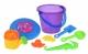 Same Toy Набір для гри з піском із Літаючою тарілкою (фіолетове відерце) (8 шт.)