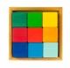 nic Конструктор дерев'яний - Різнокольоровий кубик