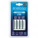 Panasonic Basic Charger+ Eneloop 4AA 1900 mAh New