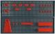Topex 79R186 Панель перфорована для інструменту - 2 шт. розмір 50 x 80 см, 2 контейнера, 10 затискачів, 8 зажимів