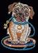 Sequin Art Набір для творчості RED Lily Pug