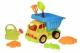Same Toy Набір для гри з піском Вантажівка жовта кабіна/синій кузов (7 од.)
