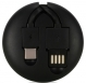 Remax Roller type Retractable (RC-099) [RC-099A-BLACK]