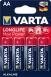 VARTA LONGLIFE MAX POWER AA BLI 4 ALKALINE