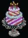 Sequin Art Набір для творчості ORANGE Birthday Cake