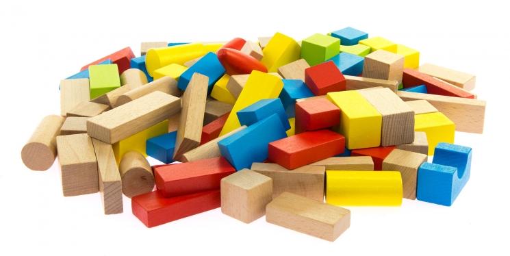 goki Конструктор деревянный Базовый большой