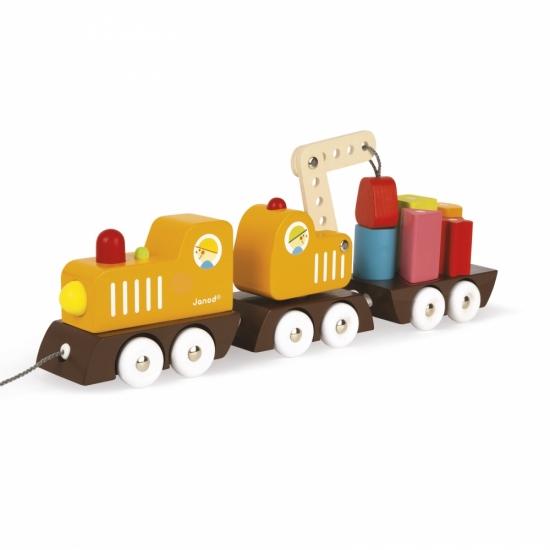 Janod Игрушка-каталка Поезд на магнитах