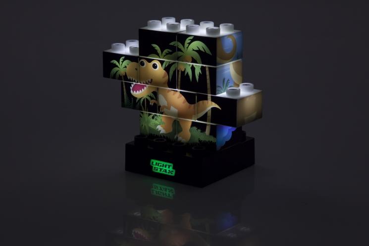 LIGHT STAX Конструктор Junior с LED подсветкой Puzzle Dinosaurer Edition LS-M03004