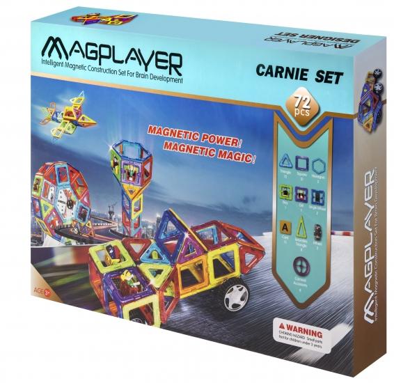 MagPlayer Конструктор магнитный 72 ед. (MPB-72)