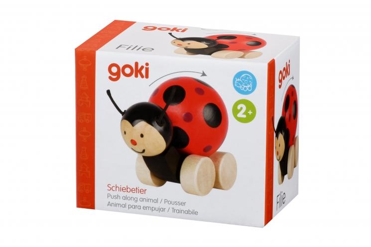 goki Игрушка-толкатель Божья коровка