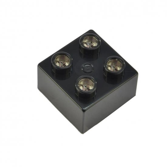 LIGHT STAX Элемент 2х2 Junior с LED подсветкой[Черный]