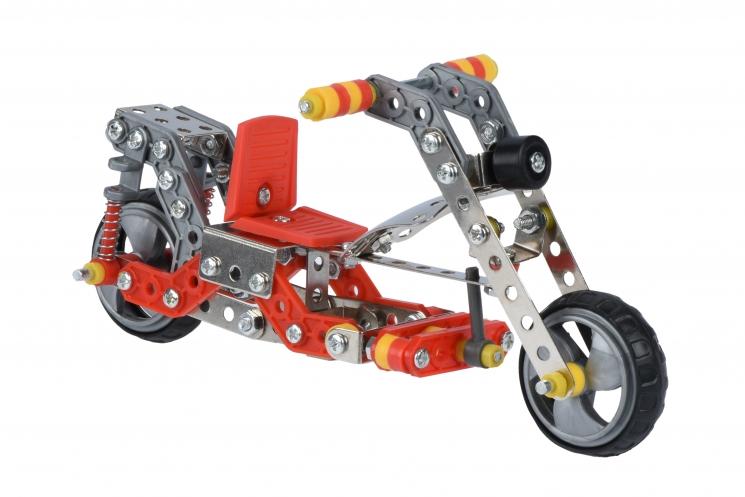 Same Toy Конструктор металлический - Мопед (195 эл.)