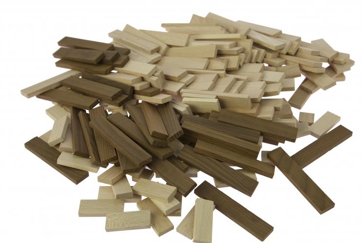 goki Конструктор деревянный Строительные блоки (натуральный)