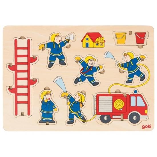 goki Пазл-вкладыш вертикальный-Пожарная команда
