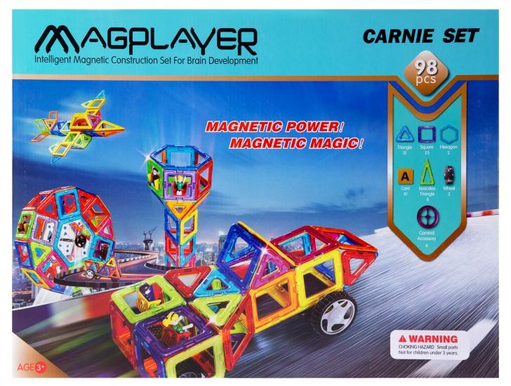 MagPlayer Конструктор магнитный 98 ед. (MPA-98)