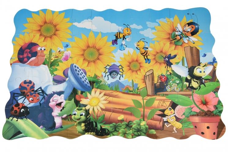 Same Toy Пазл-раскраска Жуки на заднем дворе