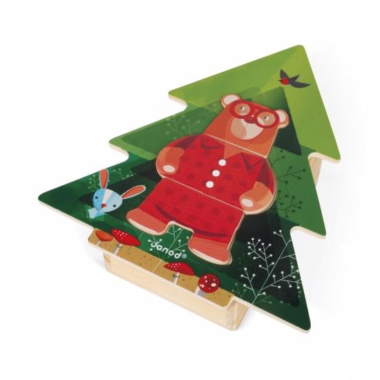 Janod Пазл деревянный - Пижамная вечеринка