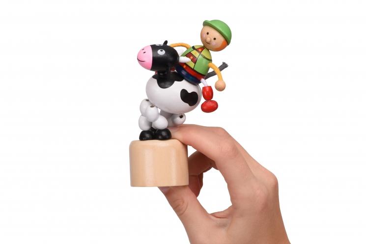 goki Игрушка нажми и тряси - Коровка
