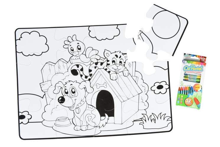 Same Toy Пазл-раскраска Домашние животные