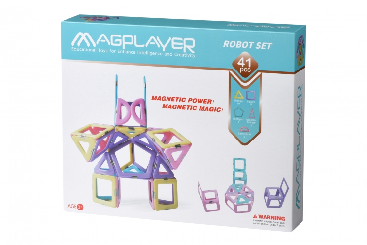 MagPlayer Конструктор магнитный набор 41 эл. (MPH2-41)