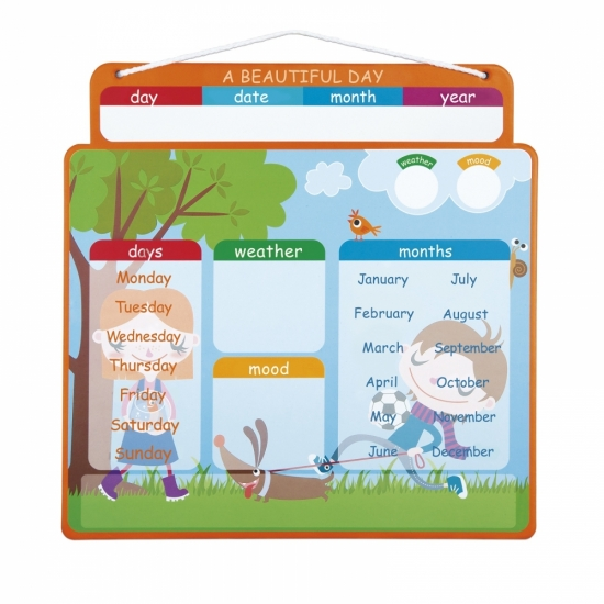 Janod Магнитный календарь (англ.язык)