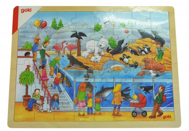 goki Деревянный пазл Визит в зоопарк