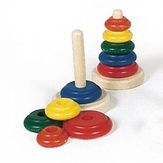 nic Пирамидка деревянная классическая разноцветная