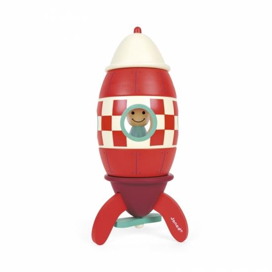 Janod Конструктор магнитный - Ракета (24 см)