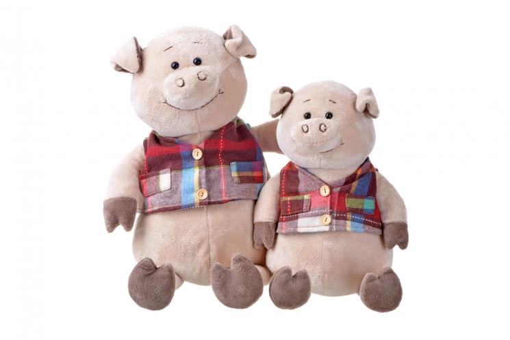 Same Toy Свинка в жилетке (35 см)