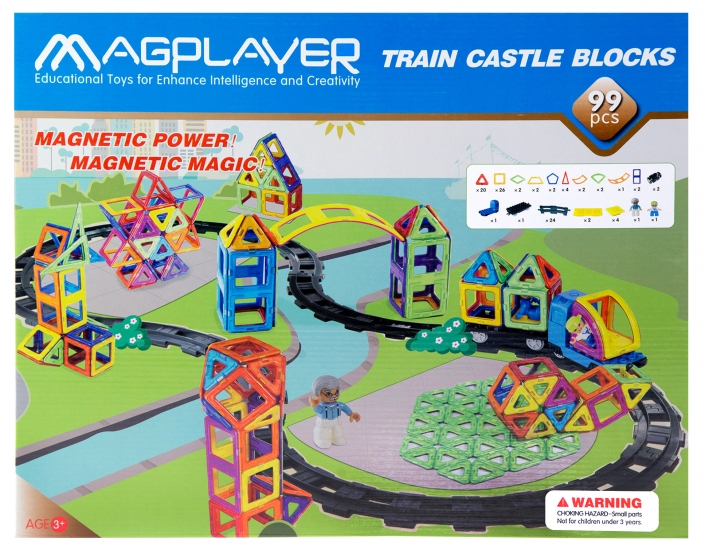 MagPlayer Конструктор магнитный 99 ед. (MPK-99)