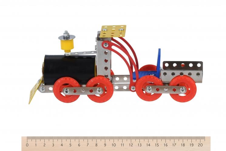 Same Toy Конструктор металлический - Паровоз (117 эл.)