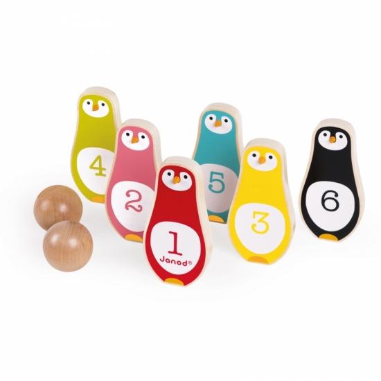 Janod Игра с кеглями - Пингвины