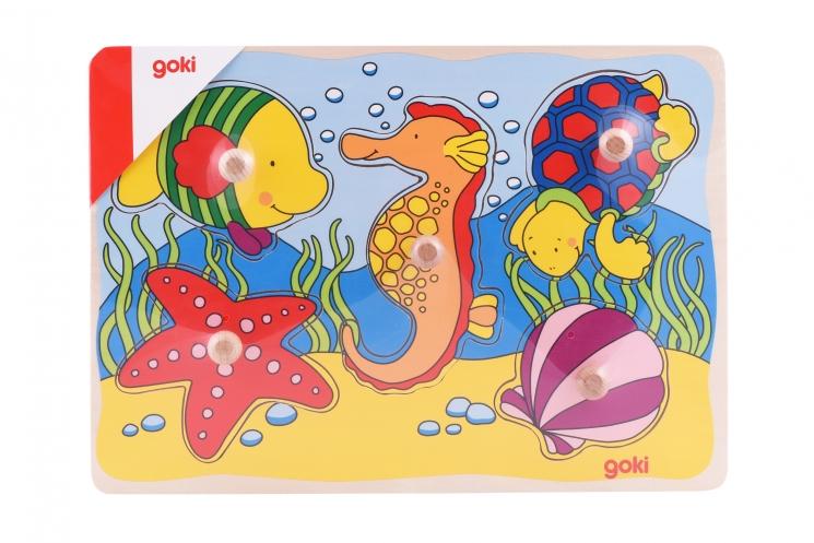 goki Пазл-вкладыш Морские жители