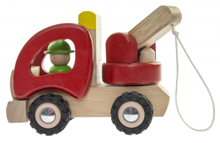 goki Машинка деревянная Эвакуатор (красный)