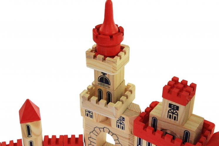 goki Конструктор деревянный Замок большой
