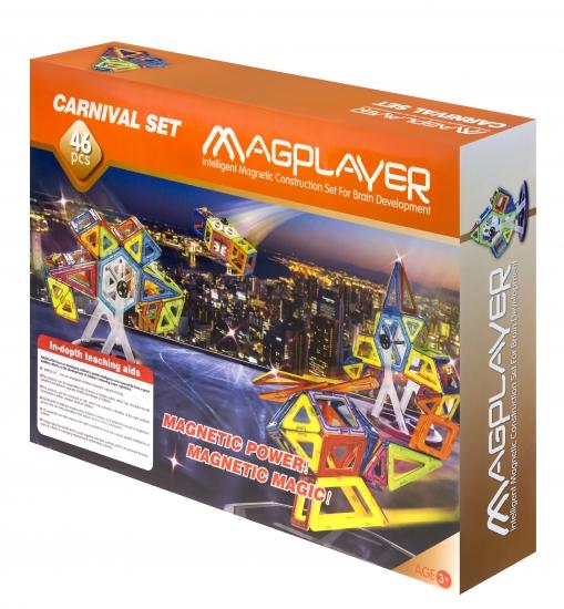 MagPlayer Конструктор магнитный 46 ед. (MPB-46)