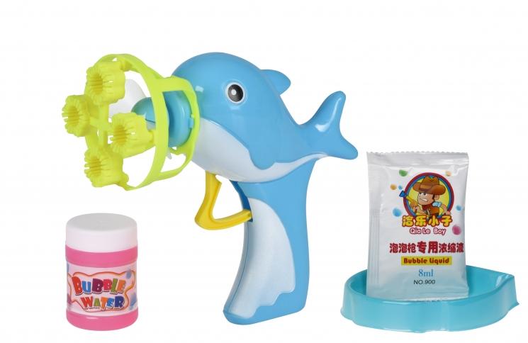 Same Toy Мыльные пузыри Bubble Gun Дельфин (голубой)