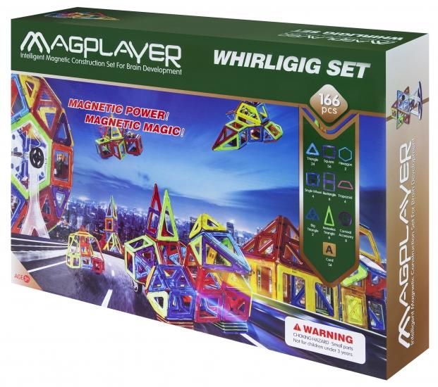 MagPlayer Конструктор магнитный 166 ед. (MPA-166)